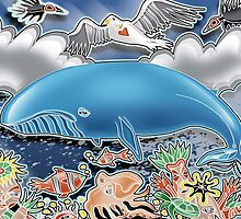 blue whale by arteology