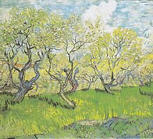 Orchard in Blossom by Vincent van Gogh by Robert Partridge