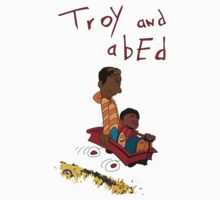 Troy and Abed ride together by justinbysma