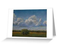 Kerrville Clouds on a clear day Greeting Card