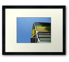 Colourful garage Framed Print