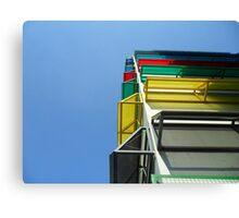 Colourful garage Canvas Print