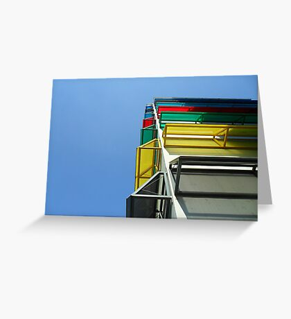 Colourful garage Greeting Card