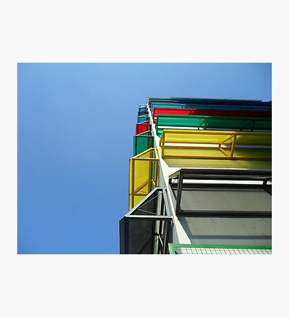 Colourful garage Photographic Print
