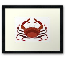 Simply crab Framed Print