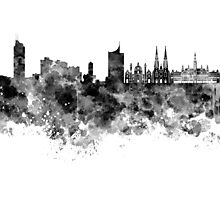 Vienna skyline in black watercolor Photographic Print