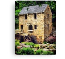 The Old Mill - Pugh's Mill 1832 Canvas Print