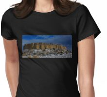 Snow Topped Desert Womens Fitted T-Shirt