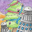Dalek xmas card no. II by debzandbex