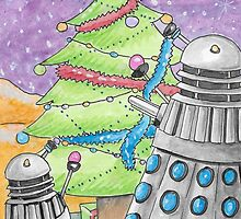 Dalek xmas card  2015 by debzandbex