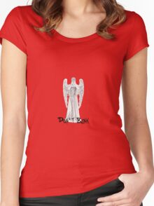 Don't Blink - DW Weeping Angels Women's Fitted Scoop T-Shirt