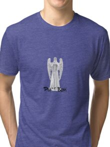 Don't Blink - DW Weeping Angels Tri-blend T-Shirt