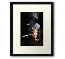 Ribbon Sparkler Framed Print