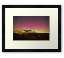 Aurora Borealis Northern Lights Over Barden Yorkshire Dales 2562 Framed Print