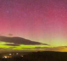 Aurora Borealis Northern Lights Over Barden Yorkshire Dales 2562 Sticker