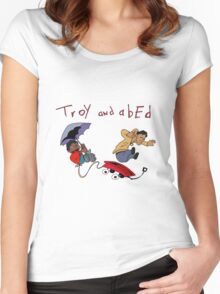 Troy and Abed Falling Women's Fitted Scoop T-Shirt