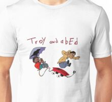 Troy and Abed Falling Unisex T-Shirt