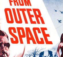 B Movie: Plan 9 from Outer Space Sticker