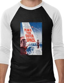 B Movie: Plan 9 from Outer Space Men's Baseball ¾ T-Shirt