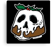 Poison Christmas Pudding Canvas Print