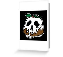Poison Christmas Pudding Greeting Card