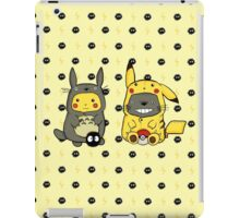 Totoro and Pikachu Onesies iPad Case/Skin