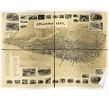 Panoramic Maps Atlantic City New Jersey Poster
