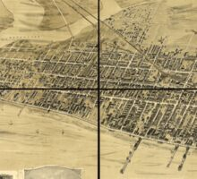 Panoramic Maps Atlantic City New Jersey Sticker