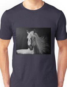 """""""A White Beauty"""" - Lusitano stallion Unisex T-Shirt"""