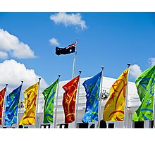 flags in a row Photographic Print