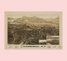 Panoramic Maps Ticonderoga NY One Piece - Short Sleeve