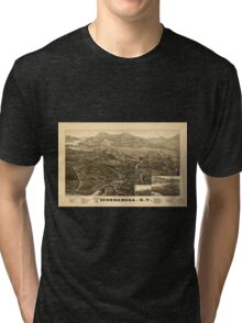Panoramic Maps Ticonderoga NY Tri-blend T-Shirt