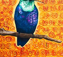 aztec hummingbird by john  garcia