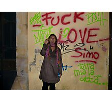 Tell us how you really feel.... Photographic Print