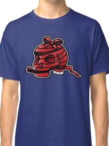 Red Ribbon Skull Classic T-Shirt