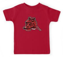 Red Ribbon Skull Kids Tee