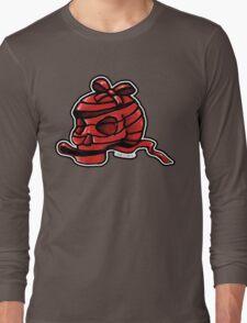 Red Ribbon Skull Long Sleeve T-Shirt
