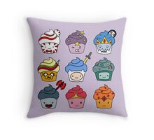 Adventurous Cupcakes Throw Pillow