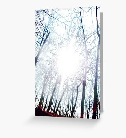 see the light from far away Greeting Card