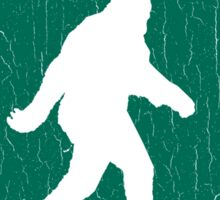 California Native Bigfoot Sign (vintage look) Sticker