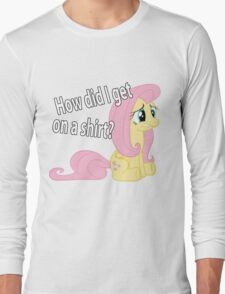 Fluttershy out of place Long Sleeve T-Shirt