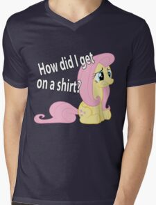 Fluttershy out of place Mens V-Neck T-Shirt
