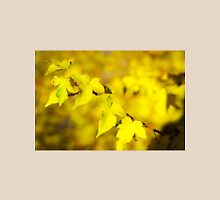 Little branch of maple with small yellow leaves closeup Unisex T-Shirt