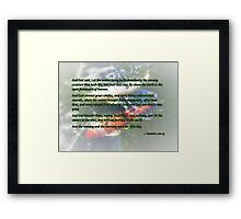 Genesis 1 20-23 And God said, Let the waters bring forth abundantly Framed Print