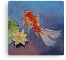 Koi on Blue and Mauve Canvas Print