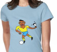 Is it the ball... or the saucer for the cup? Womens Fitted T-Shirt