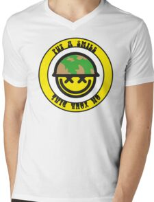 Put a smile on your dial Mens V-Neck T-Shirt