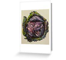 Purple cabbage. Elizabeth Moore Golding 2012Ⓒ Greeting Card