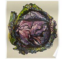 Purple cabbage. Elizabeth Moore Golding 2012Ⓒ Poster