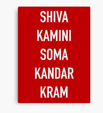 Shivakamini Somakandarkram – The League, Taco, The Shiva Canvas Print